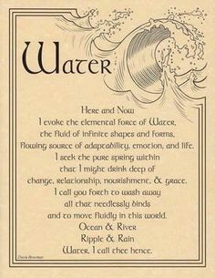 This is one of my favorites on Wiccan Supplies, Witchcraft Supplies & Pagan Supplies Experts-Eclectic Artisans: Water Evocation poster Wiccan Witch, Magick Spells, Wicca Witchcraft, Blood Magic Spells, Wiccan Art, Water Witch, Sea Witch, 5 Elements, Witch Spell