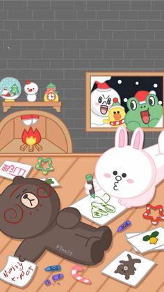 Lines Wallpaper, Bear Wallpaper, Kawaii Wallpaper, Cute Wallpaper Backgrounds, Cute Wallpapers, Iphone Wallpaper, Line Cony, Cute Bear Drawings, New Toy Story