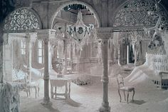 """From """"Dr. Zhivago"""" -- their abandoned mansion has turned into a snow palace"""