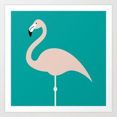 Flamingo Art Print by Stephen Cheetham