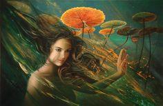 Nimue - Lady Of The Lake by Christiane Vleugels - Raipun on deviantART
