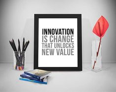 Innovation Is Change Innovation Quotes Innovation Print