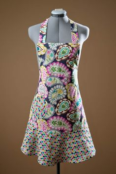 Colorful aprons with a vintage feel! love the style, but like is to etsy