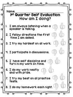 Student Self Evaluation Form For Conferences English And Spanish