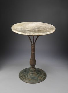 Stylish Baluster Stem Cafe or Garden Table - Robert Young Antiques