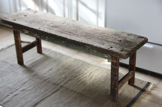 found {wood and sudden inspiration} How to make a bench