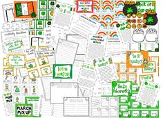 St. Patrick's Day literacy centers. They would have so much fun doing this in Pocket Chart, and Word Work stations.