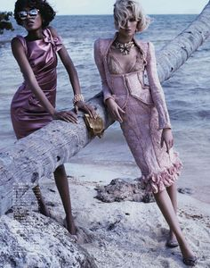 Swept Away: Jourdan Dunn and Daria Strokous by Josh Olins for  Vogue Japan April 2012
