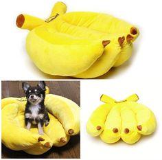 cama perros platano