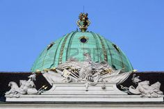 Architectural artistic decorations on Hofburg palace, Vienna; Hofburg was residence of Habsburg dynasty, rulers of Austro-Hungarian Empire. Vienna, Austria on October photo Austro Hungarian, October 10, Vienna Austria, Greek Mythology, Architecture Details, Palace, Taj Mahal, Empire, Decorations