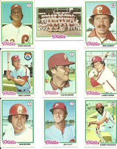 1978 vintage Topps PHILLIES 27 cards complete team set lot Schmidt Carlton Bowa  #PhiladelphiaPhillies