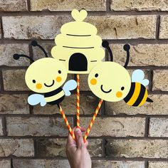 3 piece BUMBLE BEE BEEHIVE ~ Cake Topper or Centerpiece Decoration You will recieve 2 bees and a beehive Bee Baby Shower Birthday Party Gender Reveal cute Bumble Bee bumblebeeTheme Baby Shower Centerpieces, Centerpiece Decorations, Baby Shower Decorations, Bumble Bee Birthday, Sunflower Baby Showers, Bee Cakes, Mommy To Bee, Bee Party, Baby Shower Themes