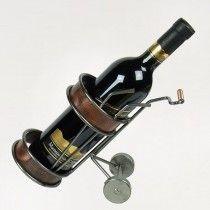 Wijnfleshouder golfkarretje luxe