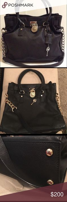Michael Kors Large Hamilton Tote This beautiful baby has seen so few days and needs more love! It is clean from a smoke free home and just not being used like it should! I received this from another posher and have used it once for a date night!                                 ✅Offers & Trades welcome Michael Kors Bags Totes