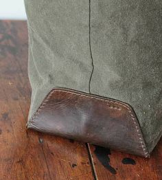 Canvas & Leather Tote Bag - Brook Farm General Store