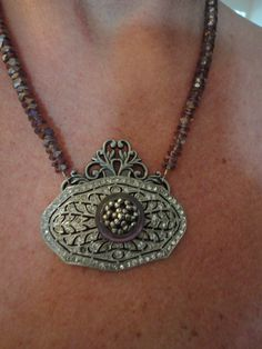 Antique French Shoe Buckle Necklace