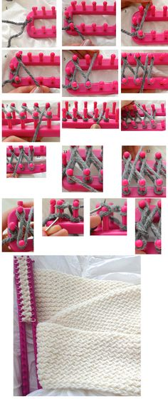 http://lovintheoven.com/diy-how-to-use-a-knitting-loom-to-make-an-infinity-scarf/