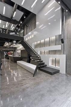 high space elevation hair salon interior design