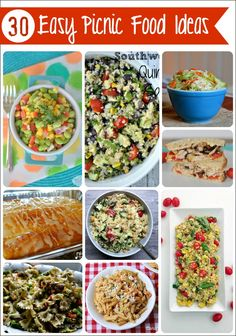 Fun picnic recipes dish pinterest picnic recipes picnics 30 easy picnic food ideas everything you need for your next picnic picnicbasket forumfinder Choice Image
