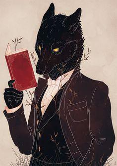 O Lobo Leitor: Encontrei mais um lobo leitor! E que charmoso!