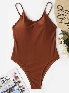 2365f53092 Shop Spaghetti Straps One Piece Swimsuit online. SheIn offers Spaghetti  Straps One Piece Swimsuit & more to fit your fashionable needs.