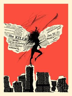 The Kills by Billy Perkins. I love the dynamic but simple figure drawing. The whole poster is extremely high contrast, which I love.