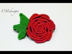 M Micro macrame rose | Valentines - YouTube