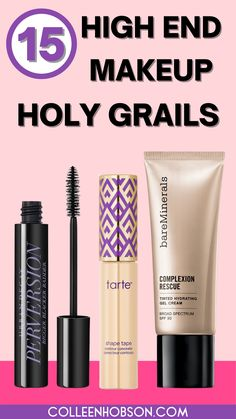 These are the best high end makeup products that are worth the money. #besthighendmakeup Makeup Bag Essentials, Beauty Essentials, Beauty Hacks, Kiss Makeup, Beauty Makeup, Best High End Makeup, Holy Grail Products, Natural Makeup Tips, Make Up Tricks