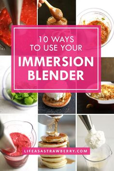 10 Ways to Use Your Immersion Blender - Your hand blender is one of the handiest tools in your kitchen! Here are 10 creative ways to use your stick blender for simple, creative recipes. Immersion Blender Recipes, Blender Hollandaise, 1 Stick Of Butter, Smoothie Blender, Smoothies, Hand Blender, Apple Butter, Eating Raw, Kitchen Recipes