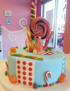 Candy Fantasy Cake - I love, love, love old-fashioned candy.
