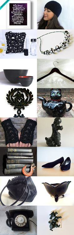 Midnight. by epiphanycrafts on Etsy black gift, gift ideas, gifts for all, gifts for her, gifts for him, gifts for kids, handmade, handmade gifts, mid century, retro, trending gift ideas, unique gift, vintage