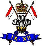 9th/12th royal lancers insignia. 11th September 1960-2015