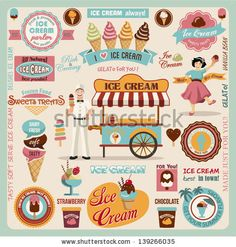 Collection of Ice Cream Design Elements.Vector Illustration by ekler, via Shutterstock