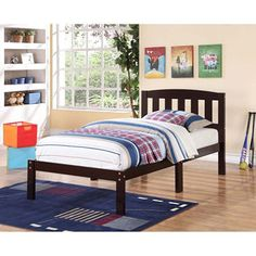 Derwent Twin Bed with Slatted Headboard