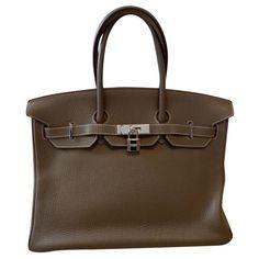 Sacs à main Hermès Hermès Cuir Gris ref.176920 - Joli Closet