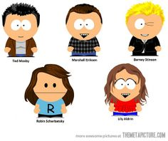 The ultimate crossover… HIMYM as South Park characters