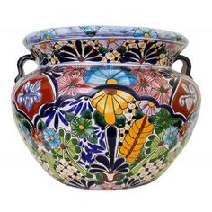 Our Mexican flower pots for sale embody the charm of Mexican Talavera. Featuring intricate floral patterns, these striking Talavera planters work beautify with any home or garden. Clay Flower Pots, Ceramic Flower Pots, Ceramic Planters, Flower Planters, Clay Pots, Talavera Pottery, Ceramic Pottery, Painted Plant Pots, Mexican Ceramics