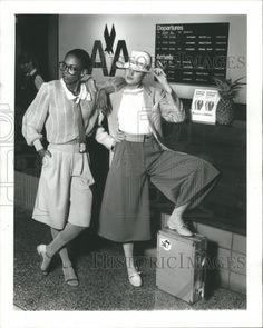 1981 Press Photo Krizia Lacey Sweater Gabardine Culotte