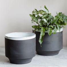 Large Dark Grey Plant Pots - Set of 2 - View All Home Decoration - Home Decoration - Home Accessories