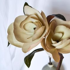 Paper Magnolias by Michelle Zerull Paper Flower Art, Paper Flowers, Magnolias, My Favorite Part, Flower Making, Coloring, Arts And Crafts, Rose, Plants