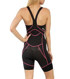 Sugoi Women's RS Tri Suit at SwimOutlet.com   --> super cool at the back! Max freedom of movement, and great design with the contrast pink.  Love it!