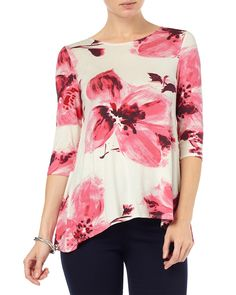 All New Arrivals | Pink Ellie Floral Print Top | Phase Eight