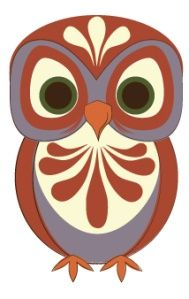 An Owl a Day Keeps Burnout Away. Owl Bird, Bird Art, Owl Applique, Whimsical Owl, Owl Illustration, Paper Owls, Shrink Art, Beautiful Owl, Owl Crafts