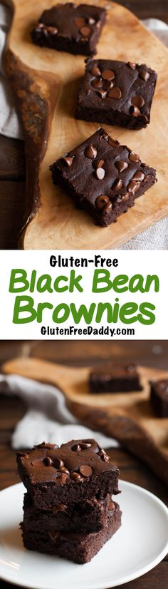 Flourless Black Bean Brownies Recipe - with only 9 simple ingredients, these pull together really fast and are grain-free and gluten-free brownies. Best Gluten Free Recipes, Gluten Free Desserts, Dessert Recipes, Keto Recipes, Dessert Bars, Healthy Recipes, Black Bean Brownies, Gluten Free Brownies, Brownie Recipes