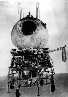 This photo released by spacecraft manufacturer RSC Energia shows the Vostok spacecraft. On April 12, 1961, Russian cosmonaut Yuri Gagarin launched into orbit on Vostok 1 to become the first human to fly in space.