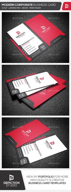 Modern Corporate Business Card - Corporate Business Card Template PSD. Download here: http://graphicriver.net/item/modern-corporate-business-card/11940630?s_rank=1775&ref=yinkira