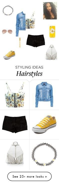 """daisy"" by synclairel on Polyvore featuring L'Agence, Converse, Rebecca Minkoff…"