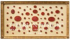 Framed Intaglios Project No. 34 Fine Quality 18th Century Tassie Wax Seals