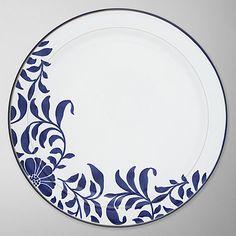 Buy Denby Malmo Bloom Dinner Plate, Dia.27cm, Blue/ White Online at johnlewis.com