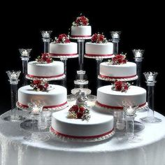 8 Tier Cascade Wedding Cake Stand (STYLE * See this great product. (This is an affiliate link) 8 Tier Wedding Cakes, Wedding Cake Stands, Wedding Cakes With Cupcakes, Cool Wedding Cakes, Beautiful Wedding Cakes, Wedding Cake Toppers, Extravagant Wedding Cakes, Wedding Cake Display, Luxury Wedding Cake